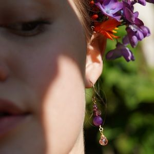 Handmade Chalcedony Tourmaline Morganite Earrings